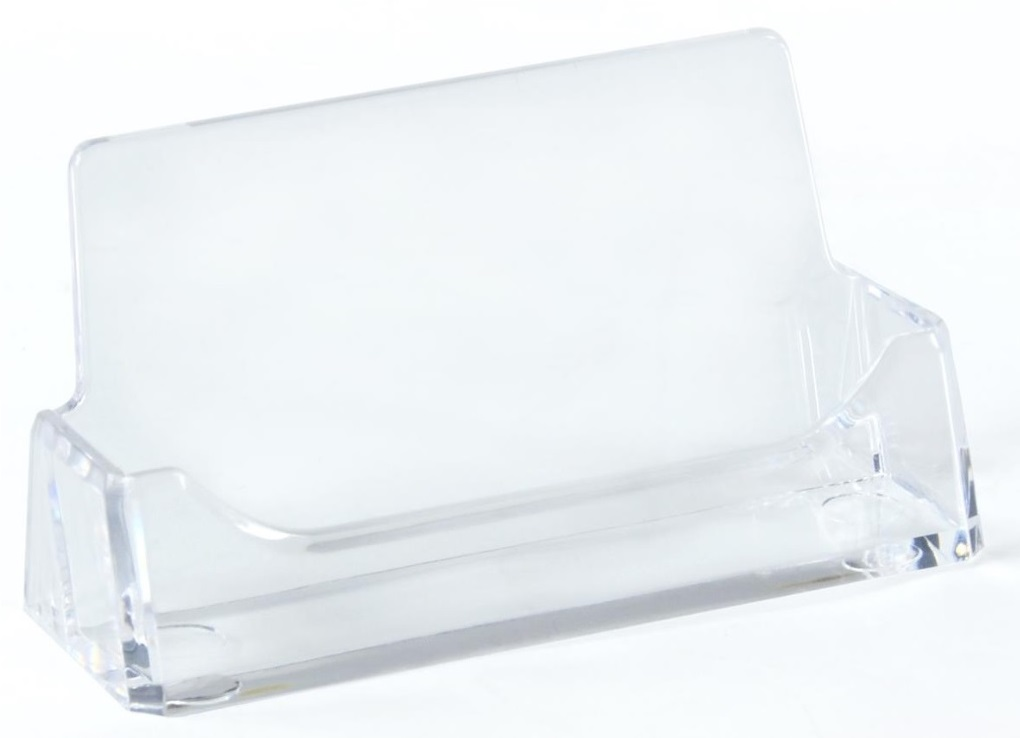 TD 75001 PENWA.COM  4-Pack Single Pocket Acrylic Business Card Holder for Tabletop - $4.25 ea - Fits 49 Cards - Clear - FREE SHIPPING