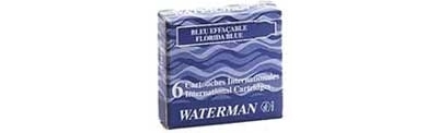 WB S0110940 Waterman  6-Pack Mini Lady Charlotte Intense Black Fountain Pen Cartridge Refills 52126W1 - one FREE with each $50 Waterman pen purchase