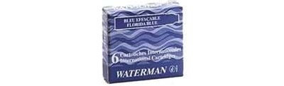 WB S0110960 Waterman  6-Pack Mini Lady Charlotte Radiant Pink Fountain Pen Cartridge Refills 52126W8 - one FREE with each $50 Waterman pen purchase