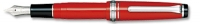 11-1232-230 SAILOR Professional Gear Slim Mini Fountain Pen Red w/Silver accents 14K Gold with Rhodium Plating Fine Nib