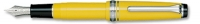 11-1232-270 SAILOR Professional Gear Slim Mini Fountain Pen Yellow w/Silver accents 14K Gold with Rhodium Plating Fine Nib