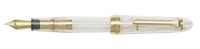 11-2001-100 SAILOR 1911L Transparent Fountain Pen w/Gold accents 21K Gold Extra Fine Nib *