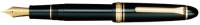 11-2023-420 SAILOR 1911 Lefty Fountain Pen Black w/Gold accents 21K Gold Medium-Nib [E]