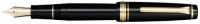 11-2036-120 SAILOR Professional Gear Fountain Pen Black w/Gold accents 21K Gold with Gold/Rhodium plating Extra Fine-Nib *