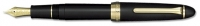 11-3021-220 SAILOR 1911 Black Matte Fountain Pen w/Gold accents 21K Gold Fine-Nib [E] *