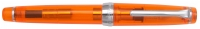 11-9296-273 SAILOR Professional Gear Transparent Fountain Pen Orange w/Silver accents 21K Gold with Rhodium plating Fine Nib