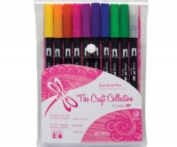 G0 56157 Tombow Set/ABT-10 RETRO Brush Pens - 10 pens in case
