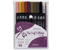 G0 56161 Tombow Set/ABT-10 GRUNGE Brush Pens - 10 pens in case