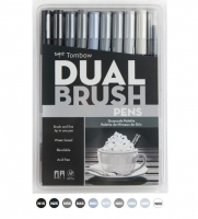 G0 56171 Tombow Set/ABT-10 GRAY SCALE Brush Pens - 10 pens in case