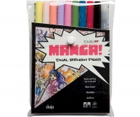 G0 56173 Tombow Set/ABT-10 MANGA SHOJO Brush Pens - 10 pens in case