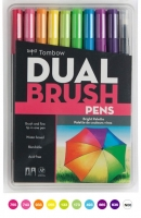 G0 56185 Box/24 Tombow Set/ABT-10 Limited Edition BRIGHT Brush Pens - $13.88 ea - 10 pens in case