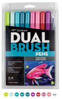 G0 56189 Box/24 Tombow Set/ABT-10 Limited Edition TROPICAL Brush Pens - $13.88 ea - 10 pens in case