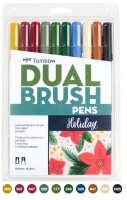 G0 56195 Box/24 Tombow Set/ABT-10 Limited Edition HOLIDAY Brush Pens - $13.88 ea - 10 pens in case