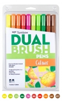 G0 56196 Box/24 Tombow Set/ABT-10 Limited Edition CITRUS Brush Pens - $13.88 ea - 10 pens in case