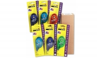 O7 68670 6-PACK Tombow MONO White ASSORTED RETRO Correction Tape 4mm x 10m..