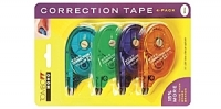 L0 68679 Tombow 4-PACK MONO White ASSORTED RETRO Correction Tape 4mm x 10m