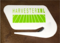 TD 70102 HarvesterXML Logo LETTER OPENER without magnet - only available with $50-$200 orders