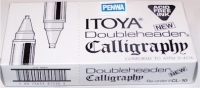 P0 81525 Box/DOZEN Itoya CL-10-BK BLACK DoubleHeader Calligraphy Tips - $1.58 ea -