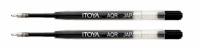S0 30339 2-Pack Itoya AQR-10 BLACK AquaRoller Pen refill 1.0mm PARKER
