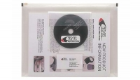 DS 30448 Box/DOZEN Itoya PZ-25-CL CLEAR PolyZip Envelope 8.5x11 W/CD + BUS CARD SLOT - $1.83 ea -
