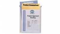 DS 30449 Box/DOZEN Itoya PZ-60-CR CLEAR PolyZip Vert Scrapbook Envelope 8.5x11 - $1.58 ea -
