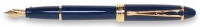 DS 00121 AURORA B12/B-M IPSILON DELUXE BLUE FOUNTAIN PEN 14KT GOLD NIB