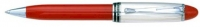AU 00343 AURORA B34/CR STERLING SILVER CAP AND RED BARREL Ballpoint Pen