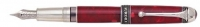 DS 00946 AURORA 946 85th Anniversary PEN w/Red Marbeled Resin and Solid .925 Sterling Silver Trim FP