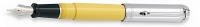 DS 01104 AURORA D11/CY TALENTUM YELLOW FOUNTAIN PEN W/CHROME CAP - Allow 3 weeks for delivery