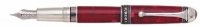 DS 01946 AURORA 946-F 85th Anniversary w/Red Marbeled Resin and Solid .925 Sterling Silver Trim FP PEN Fine Nib
