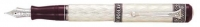 DS 02936 AURORA 936-EF 80TH ANNIVERSARY STERLING SILVER FOUNTAIN PEN Extra Fine Nib