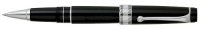 DS 09771 AURORA 975/CN BLACK ROLLERBALL PEN WITH CHROME PLATED TRIM