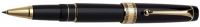 DS 09772 AURORA 975/N BLACK ROLLERBALL PEN WITH GOLD PLATED TRIM