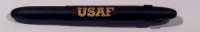 CF 83933 Fisher 400-B-CL-USAF AIR FORCE U S A F Black BULLET Ballpoint w/clip [E]