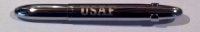 CF 83938 Fisher 400CLUSAF AIR FORCE LOGO Chrome BULLET Ballpoint w/clip
