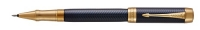 DS 1931374 Parker Duofold Prestige Blue Chevron Gold Trim Rollerball Pen Gift Box - Now in Stock