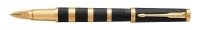 1931441 Parker Ingenuity Premium Large Black Rubber and Metal Gold Trim Parker 5th M-nib Gift Box  - Allow 3 days to ship