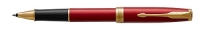 1931475 Parker Sonnet Red Lacquer Gold Trim Rollerball Pen Gift Box - Allow 3 days to ship