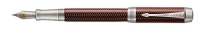 DS 1945418 Parker Duofold Prestige Burgundy Chevron Chrome Trim Centenial Fountain Pen F-nib Gift Box  - Now in Stock