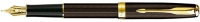 00030 Parker Sonnet Refresh Chiseled Chocolate GT Fountain Pen F 1743567