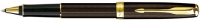 00032 Parker Sonnet Refresh Chiseled Chocolate GT Rollerball Pen 1743569