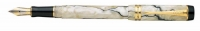 PB 61535 Parker Duofold Pearl/Black Fountain Pen Inter F-Nib 1738509 S0767460 *