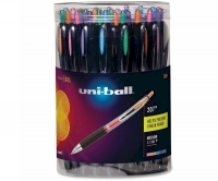 SS 40111 36-pack UNI-BALL SIGNO GEL 207 Canister Retractable Rollerball ASST Colors Ink 0.7mm ANTI-CHECK-FRAUD - $1.50 ea -