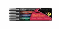 SS 61471  4-Pack PRISMACOLOR BRUSH MARKER CLEARFOLD BLACK BLUE GREEN RED 1736671 - $1.73 ea -