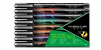 SS 75339 PRISMACOLOR  8-Pack CHISEL MARKER POUCH BK BL BR GR OR PU RD SEPIA 1738863 - $1.55 ea -