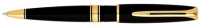30057 Waterman Charleston Ebony Black GT Ballpoint Pen S0701010 *
