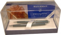 64661 Waterman Hemisphere Metallic Blue Pen - Pencil Set