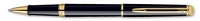1782291 Waterman Hemisphere Essential Black Lacquer Gold Trim Rollerball Pen [E] S0920650 *