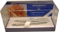 92004W Waterman Hemisphere Stainless Steel CT Pen - Pencil Set [no converter]