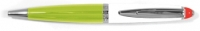 U7 10771 XONEX TriTone 2011 White and Lime Ballpoint Pen